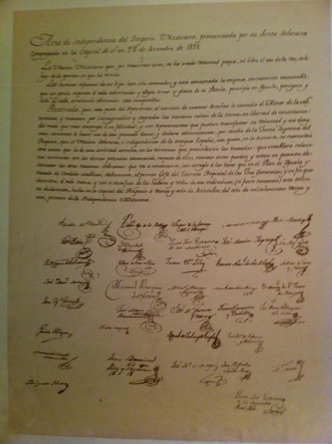 メキシコ独立宣言書