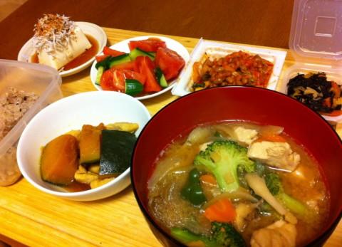 野菜味噌汁