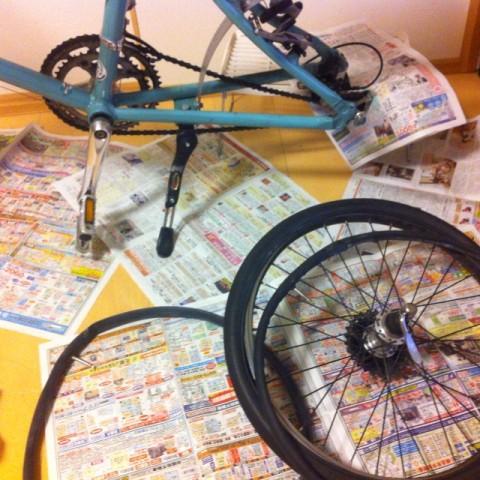 自転車チューブ20×1.25