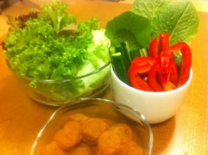 自家栽培サラダ