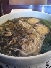 高菜豚肉細麺