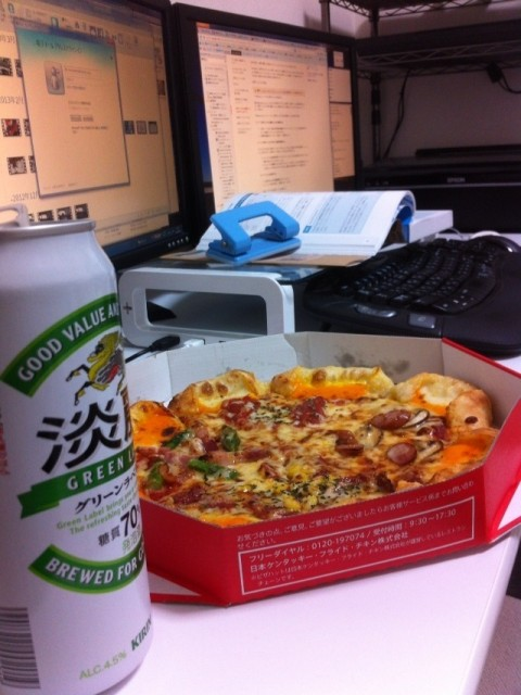 ピザ&ビール
